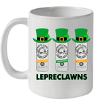 White Mug Lepreclawns Pot O' Gold Shamrock Lucky St Patrick's Day Premium Sublime Ceramic Coffee Mug Y97