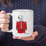 White Mug Peanuts Snoopy Mom Number One Premium Sublime Ceramic Coffee Mug Y97