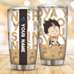 Custom name chibi Yu Nishinoya anime Gift for lover Day Travel Tumbler All Over Print TL97