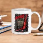 White Mug Marvel Daredevil Diving  Premium Sublime Ceramic Coffee Mug Y97
