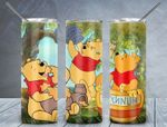 Winnie The Pooh honey cartoon A6868 gift for lover Skinny Tumbler TL97