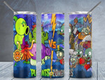 Plants Vs Zombies games 938 gift for lover Skinny Tumbler TL97