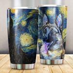 Starry Night German Shepherd 102 Gift for lover Day Travel Tumbler All Over Print TL97
