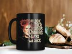 Black Mug Look Another Glorious Morning Makes Me Sick Mug Hocus Pocus Mug Winifred Sanderson Mug Retro Premium Sublime Ceramic Coffee Mug H99
