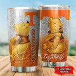 Tennessee Volunteers Pooh Custom Name Football 1234 gift for lover Day Travel Tumbler All Over Print TL97
