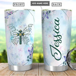 Personalized Butterfly Faith cross Gift for lover Day Travel Tumbler All Over Print TL97