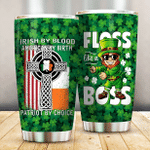 St. Patrick's Day  Irish By Blood Lucky Charms Shamrock  102 Gift for lover Day Travel Tumbler All Over Print TL97