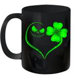 Black Mug Jack Skellington And Irish St Patrack's Day Premium Sublime Ceramic Coffee Mug Y97