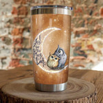 Owl i love you moon  Gift for lover Day Travel Tumbler All Over Print TL97