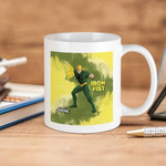 White Mug Marvel Comics  Ultimate Spider Man Iron Fist Premium Sublime Ceramic Coffee Mug Y97