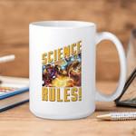 White Mug Marvel Comics Iron Man Science Rules Premium Sublime Ceramic Coffee Mug Y97