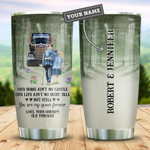 Trucker Couple Fairy Tale Personalized Gift for lover Day Travel Tumbler All Over Print TL97