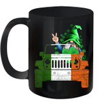 Black Mug Gnomies Leprechaun Jeep Shamrock Clover St Patricks Day Premium Sublime Ceramic Coffee Mug Y97