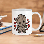 White Mug Marvel Groot Hearts Premium Sublime Ceramic Coffee Mug Y97