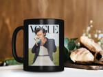 Black Mug One Direction Harry Styles Cover Of The Vogue Magazine Mug One Direction Mug Vogue Magazine Premium Sublime Ceramic Coffee Mug H99