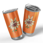 3D Peace Flower Gift for lover Day Travel Tumbler All Over Print TL97