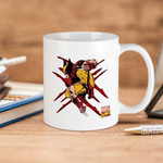 White Mug Marvel Wolverine Scratches Premium Sublime Ceramic Coffee Mug Y97