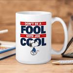 White Mug The Peanuts Snoopy Don't Be A Fool Vote Joe Cool Premium Sublime Ceramic Coffee Mug Y97