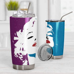 3D Marilyn Monroe Art Gift for lover Day Travel Tumbler All Over Print TL97