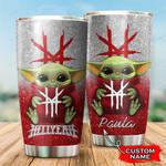 Custom name Hellyeah Baby yoda Star Wars Disney gift For Lovers Travel Tumbler All Over Print TL97