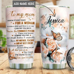 Personalized Butterfly Daughter To Mom Gift for lover Day Travel Tumbler All Over Print TL97