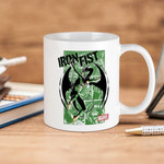 White Mug Marvel Comics Iron Fist Green Panels Premium Sublime Ceramic Coffee Mug Y97