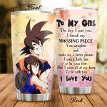 Dragon Ball anime Son Goku And Chichi Gift for lover Day Travel Tumbler All Over Print TL97