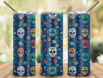 Day of the Dead Mexico 583 gift for lover Skinny Tumbler TL97