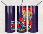 Vintage Rock and Roll Girl 531 gift for lover Skinny Tumbler TL97