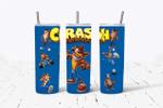 Crash Bandicoot Games 555 gift for lover Skinny Tumbler TL97