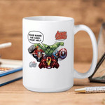 White Mug Marvel Comics  Avengers We Need Your Help Premium Sublime Ceramic Coffee Mug Y97