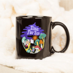 Black Mug Time For Tea Premium Sublime Ceramic Coffee Mug Y97