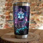 Butterfly dreamcatcher neon Gift for lover Day Travel Tumbler All Over Print TL97