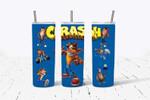 Crash cartoon 512 gift for lover Skinny Tumbler TL97