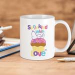 White Mug Snoopy Cream Peanut Sprinkled With Love Premium Sublime Ceramic Coffee Mug Y97