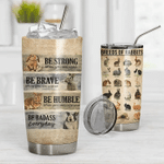 3D Rabbit Knowledge Custom Gift for lover Day Travel Tumbler All Over Print TL97