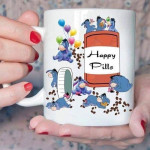 White Mug Eeyore Happy Pills Eeyore Lovers Winnie The Pooh Premium Sublime Ceramic Coffee Mug Y97