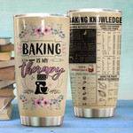 Baking Tumbler Baking Is My Therapy Gift for lover Day Travel Tumbler All Over Print TL97