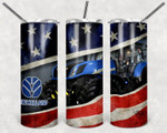 American Flag New Holland A6868 gift for lover Skinny Tumbler TL97
