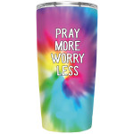 Custom name Pray More worry less Gift for lover Day Travel Tumbler All Over Print TL97