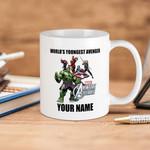 White Mug Marvel Comics Avengers Assemble World's Youngest Avengers Premium Sublime Ceramic Coffee Mug Y97