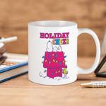 White Mug Peanuts Snoopy Holiday Cheer Premium Sublime Ceramic Coffee Mug Y97