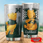 Hawaii Rainbow Warriors Pooh Football custom name 1234 gift for lover Day Travel Tumbler All Over Print TL97