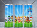 Paw Patrol cartoon A132 gift for lover Skinny Tumbler TL97