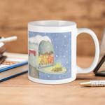 White Mug Warm Snowy Snuggle Premium Sublime Ceramic Coffee Mug Y97