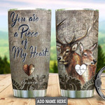 Personalized Deer Couple Puzzles Gift for lover Day Travel Tumbler All Over Print TL97
