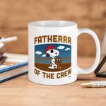 White Mug The Peanuts Snoopy Father Of The Crew Premium Sublime Ceramic Coffee Mug Y97