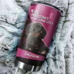 Old Woman With A Dachshund Gift for lover Day Travel Tumbler All Over Print TL97