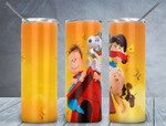 Snoopy cartoon 234 gift for lover Skinny Tumbler TL97