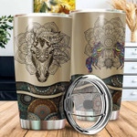Personalized Love Horses mandala Gift for lover Day Travel Tumbler All Over Print TL97